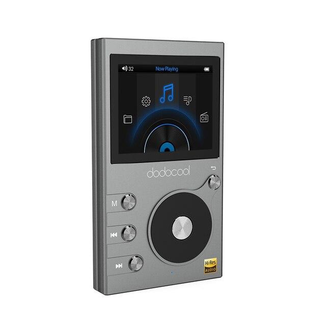 Dodocool ラジオポータブル 8 ギガバイト高解像度オーディオロスレスの Hi-Fi 音楽プレーヤーボイスレコーダー FM ラジオ # XJ30