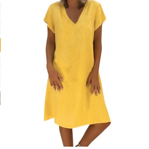 2019 New For Women Summer Style Feminino Vestido T-shirt Made Of Cotton And Linen Everyday Plus Sizes Ladies Loose Dresses