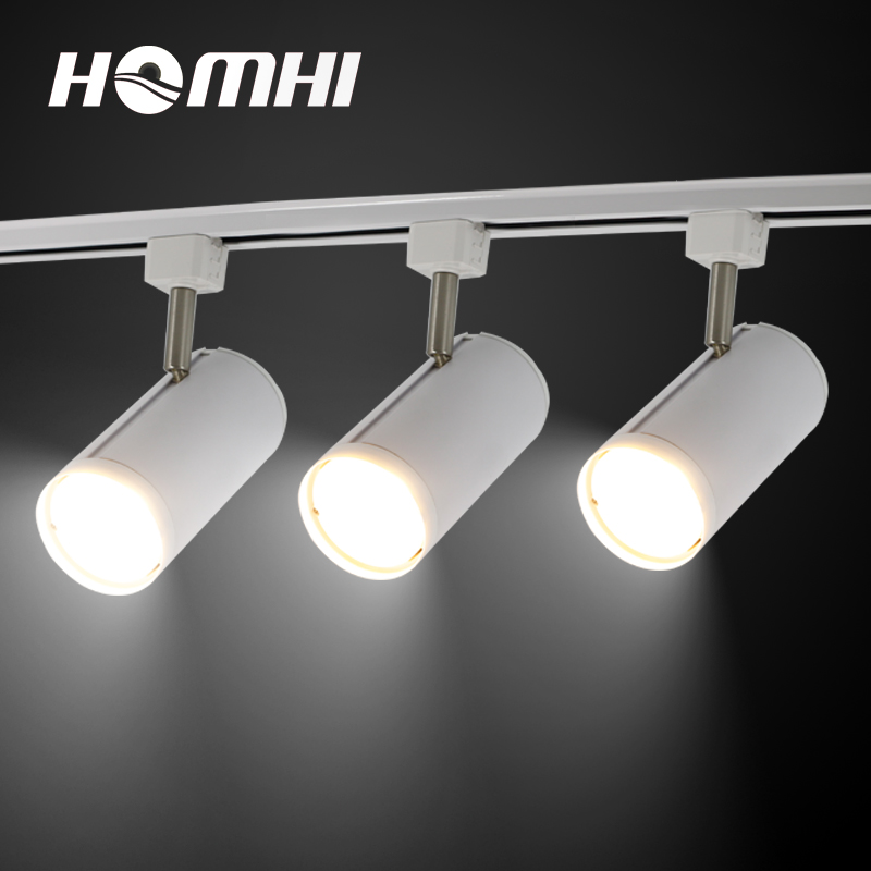 20 w LED piste lumière Cob Pour Les Vêtements Boutique en aluminium spotlight accueil bureau boutique cuisine luminaires chaud blanc Rail lampe