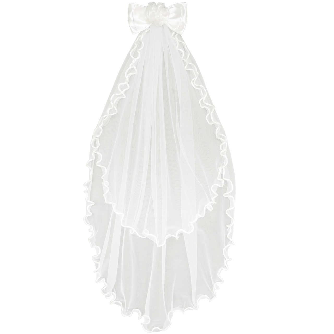 Sunny Fashion Kız Çocuk Elbise Çiçek Kırık beyaz Düğün Duvak İlk Cemaat
