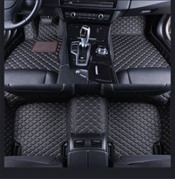 Leather Front Rear Floor Mats Set For BMW Liner Waterproof Mat For BMW 3 Series E90 2005 2006 2007 2008 2009 2010 2011 2012 2013