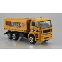 Mini Construction Team Pretend Toy Truck Excavator Forklift Construction Personnel Road Sign Set