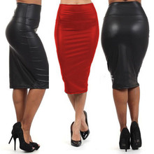 fbee0b8aceab65 Comparer les prix sur Rouge En Cuir Jupe - Online Shopping / Acheter ...