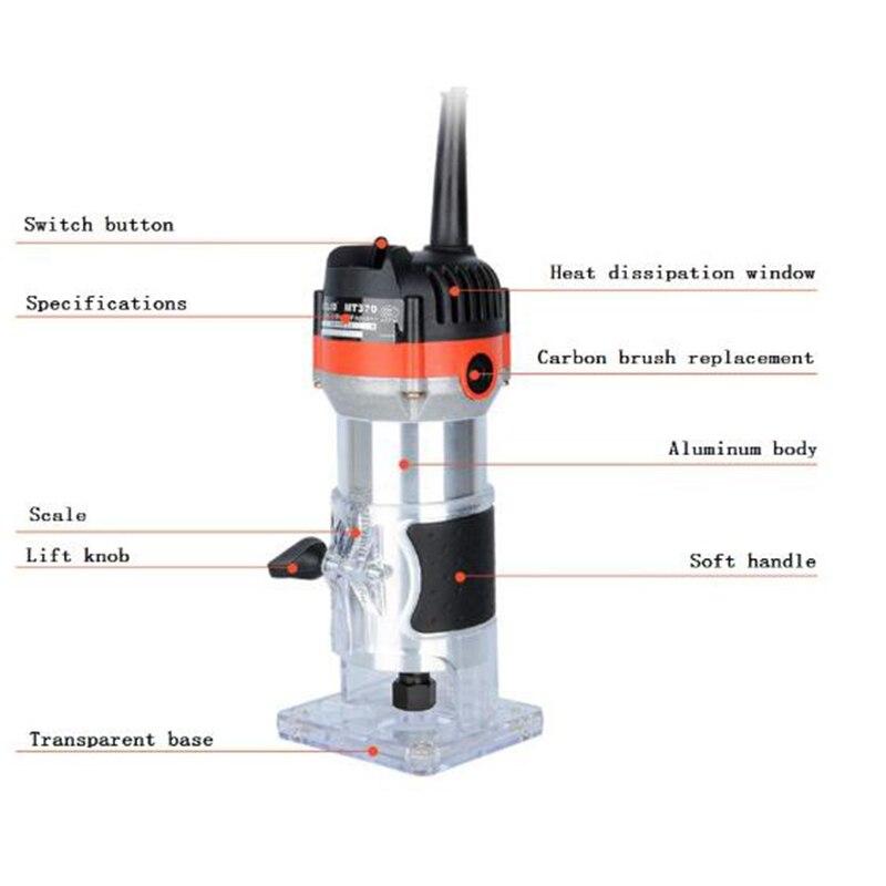 כלים יד 220V 35000Rpm 530W חשמלי יד גוזם עץ Edge 1/4 כלים נתב אינץ ווד נתב גוזם עבור כלי קידוח נגרות / EU (2)