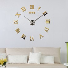 3D Mirror Wall Clock DIY Big Clocks Home Decoration Modern Design Large Size