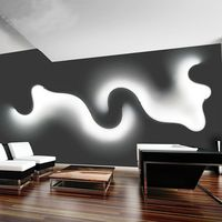 SETTEMBRE Modern Curve LED Wall Lamp Living Room Bedroom Indoor Wall Lights Art Deco Sconce Fixtures White Black