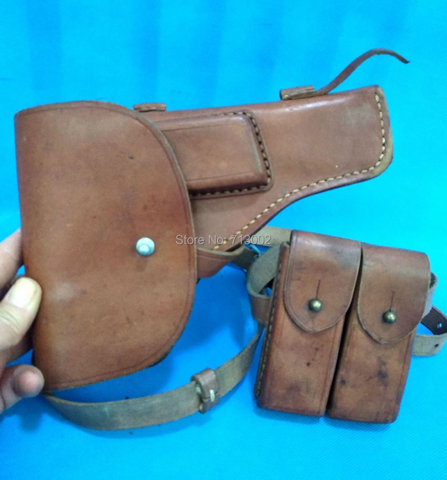 54--Type Holster Military-Collection Vintage Chinese Pistol with Pouch-Set Troops-Tokarev