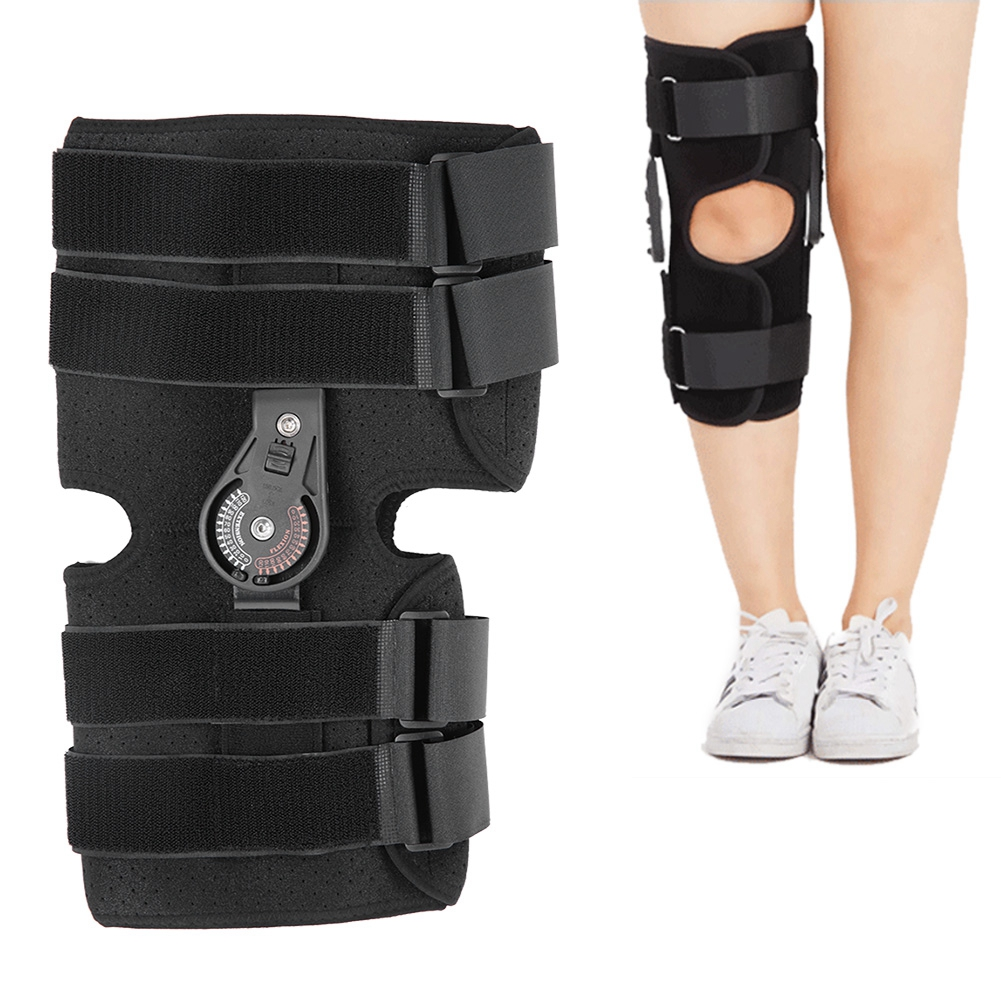 New Short Adjustable Knee Joint with Chuck Medical Ligament Injury Osteoarthritis Knee Protector Brace Support