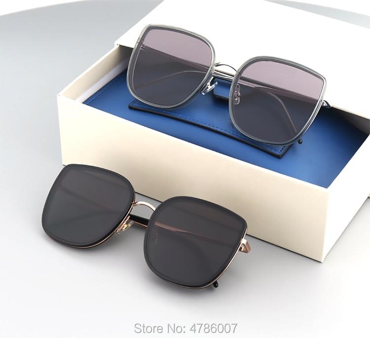 Oversized Sunglasses Women Big Frame Lunette Soleil Femme Square Sun Glasses BIBI Brand Designer Retro Vintage Gentle Eyewear