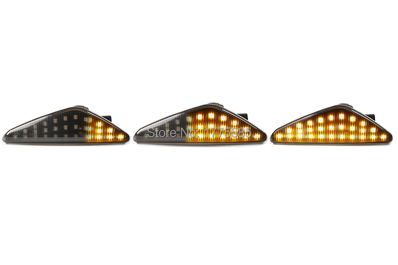 18 SMD CanBus Error Free Indicator Light For E70 X5 E71 X6 F25 X3 Clear Lens 2 X LED Side Marker Amber