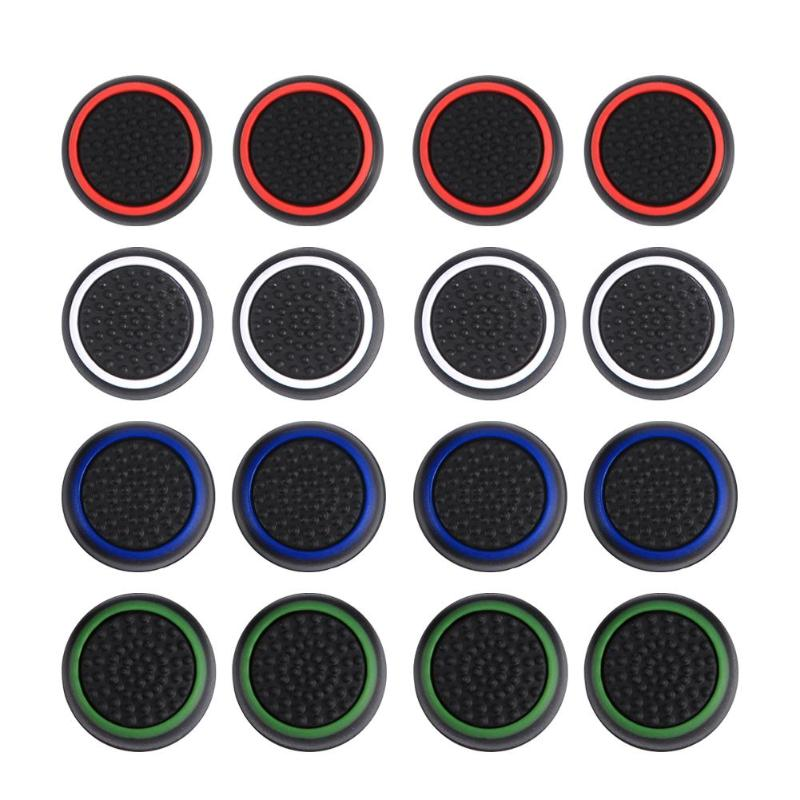 ALLOYSEED 4pcs Silicone Games Pads Controller Joystick Analog Thumbstick Grip Thumb Stick Cap Cover For PS4 PS3 Xbox One