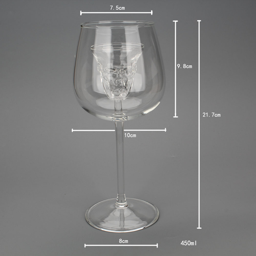 Creative Double Wall Skull Shot Coffee Beer Cup Transparent Wine Whiskey Champagne Cocktails Drinkware Party Gift 29 in Transparent from Home Garden