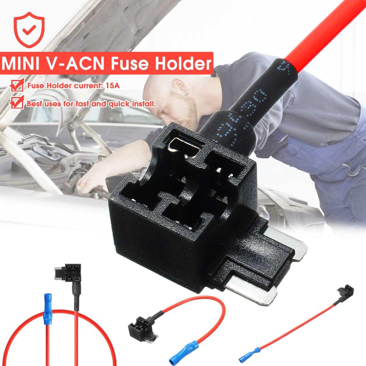 V Acn 15a Fuse Holder Car Add Circuit Piggy Back Tap Standard Ato Atc Blade Fuse Boxe Holder Set