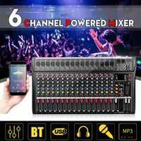 Professional 16 Channel bluetooth USB Audio Mixer DJ Sound Mixing Console Computer Karaoke Playback For Karaoke KTV Match Party