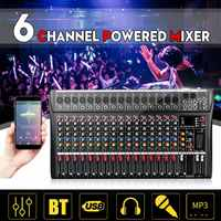 Professional 16 Channel bluetooth USB Audio Mixer DJ Sound Mixing Console Computer Karaoke Playback For Karaoke KTV Match Party