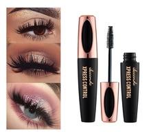 4D Fiber Rimel Eyes Mascara Eyelush Long Lasting Black Waterproof Lengthening Mascara 3D Silk Fiber Eyelush Make Up Rimel