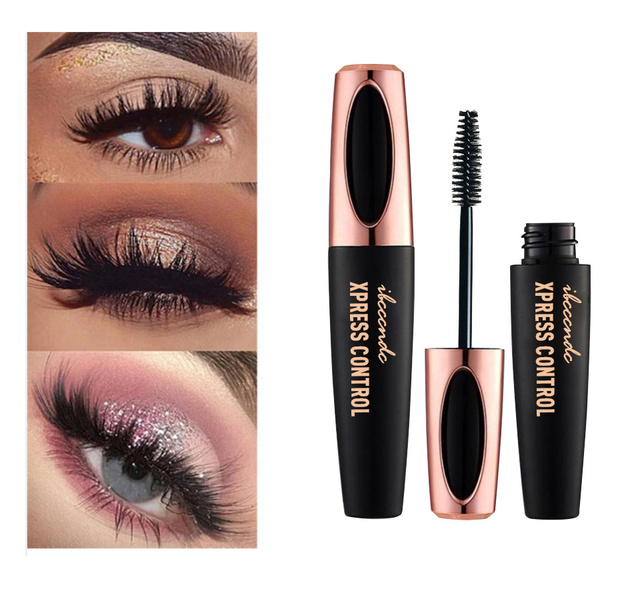 4D Fiber Rimel Eyes Mascara Eyelush Long Lasting Black Waterproof Lengthening Mascara 3D Silk Fiber Eyelush Make Up Rimel