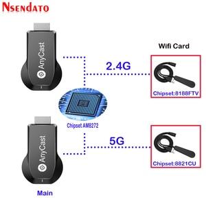 Image 4 - Anycast M100 2.4G/5G 4K Miracast أي الصب اللاسلكية DLNA البث HDMI جهاز استقبال للتليفزيون جهاز دونجل للعرض مزود بخاصية Wifi استقبال ل IOS الروبوت PC