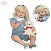 70 см Силиконовые Reborn Baby Doll силиконовая кукла игрушки для принцесс новорожденных bebes reborn Детские куклы на день рождения подарок lol кукла