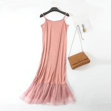 Women Summer Tulle Dress Fashion Casual Sleeveless Gauze Vintage Party Dresses Patchwork Ladies Office Vestidos