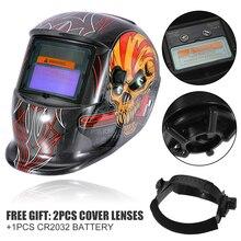 Auto Darkening Welding Helmet 320x210x230mm Welding Helmet Solar Auto Darkening Welder Mask Grinding Hood Cap & 2 Baffle недорого