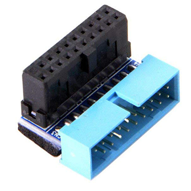 HOT-USB 3.0 20pin Male to Female Extension Adapter Angled 90 Degree for Motherboard Mainboard