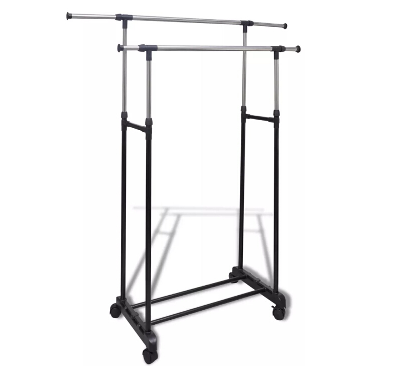 Door Clothes Wardrobe Double Carrying On 4 Casters Lightweight, Strong And Stable To Carry Or Move Your Wardrobe