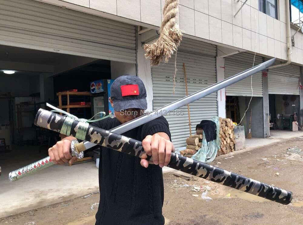 Battaglia Pronto Giapponese Samurai Lama Diritta Completa Di Linguetta Di Alta Lama In Acciaio Al Carbonio Sharp Ninja Cosplay Reale Spada Katana Comodo E Facile Da Indossare