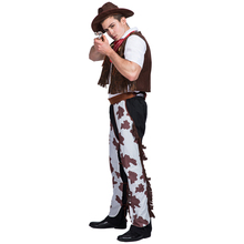 Cowboy Costume Adult Cosplay Men Halloween For Carnival Performance Party Clothing