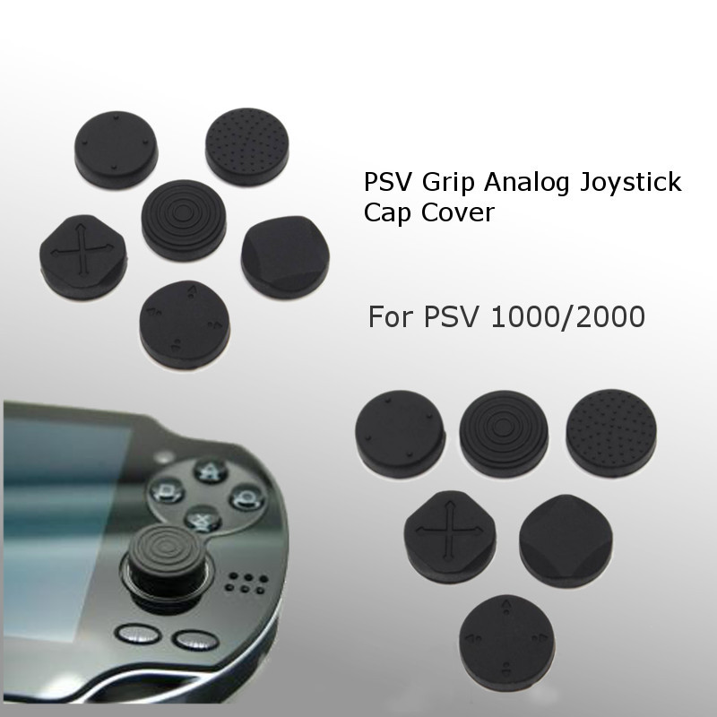 6 In 1 Protective Button Pad Kit Silicone Grip Analog Joystick Cap Cover For <font><b>Sony</b></font> For <font><b>PS</b></font> <font><b>Vita</b></font> PSV <font><b>1000</b></font>/2000 Console Accessories image