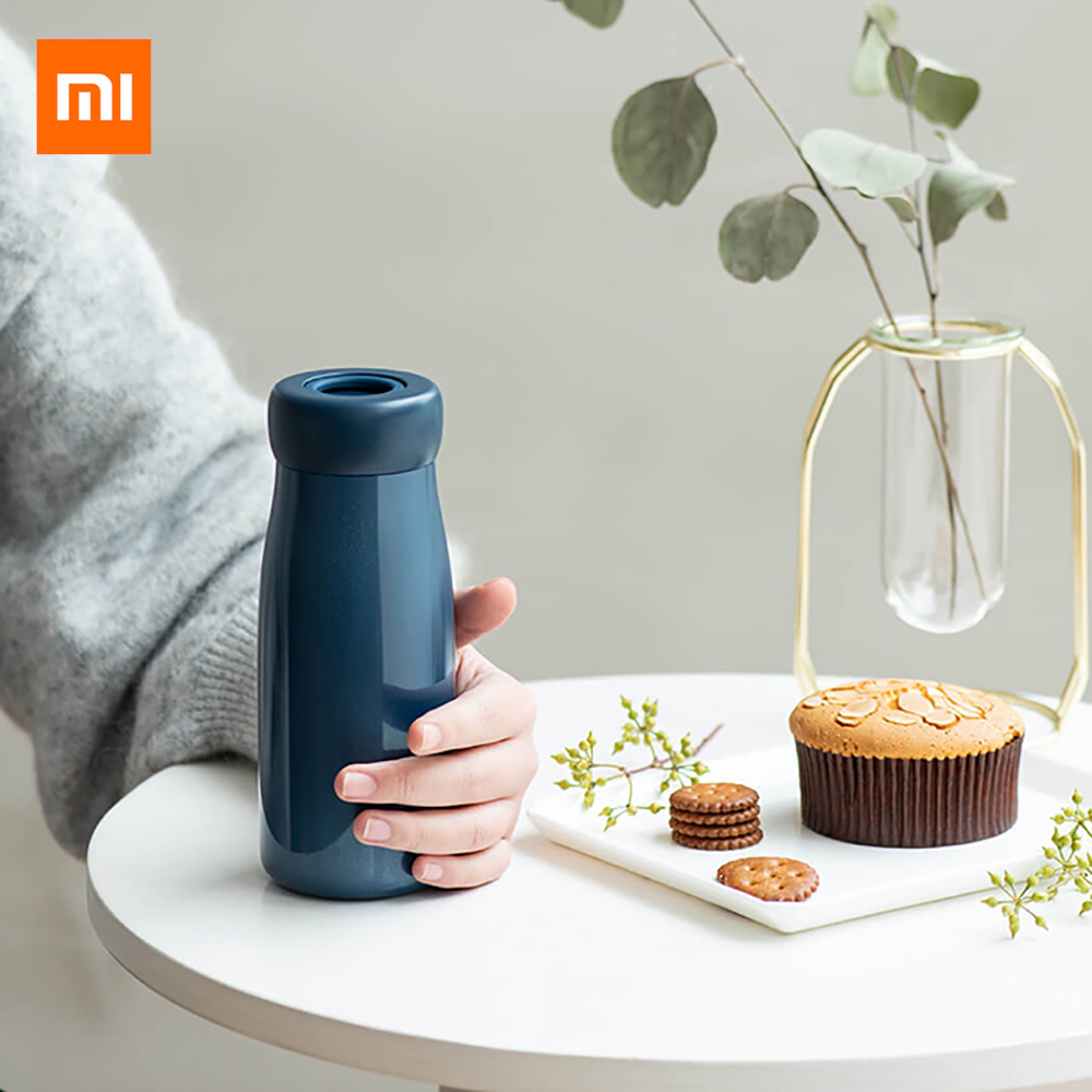 Xiaomi Mijia Insulation Cup Vacuum Flask 400ml 360 degrees seal watertight Hidden portable Water KettleXiaomi Mijia Insulation Cup Vacuum Flask 400ml 360 degrees seal watertight Hidden portable Water Kettle