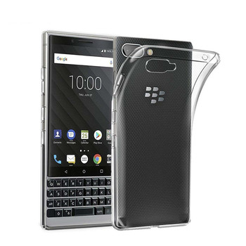Перейти на Алиэкспресс и купить Прозрачный прозрачный чехол Мягкий ТПУ силиконовый чехол для BlackBerry KEY2 LE BBE100-1 противоударные Чехлы BBE100-4 чехол