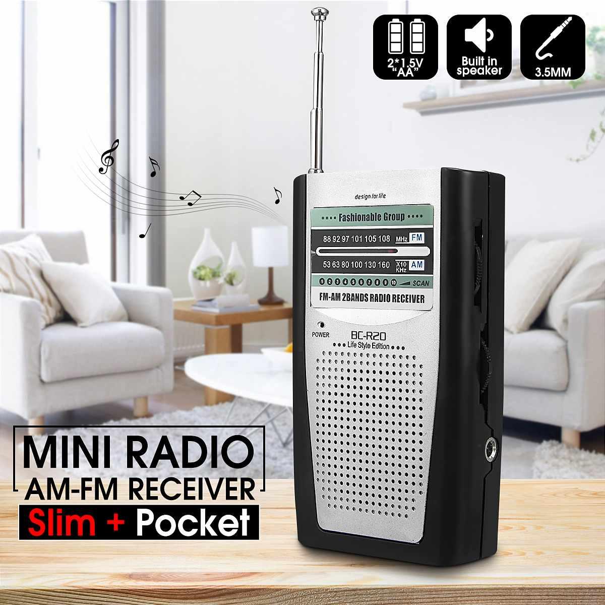 Humor Tragbare Mini Radio Am Fm Teleskop Antenne Welt Bands Stereo Empfänger Clamp Radios Unterstützung 3,5mm Kopfhörer Für Outdoor Fest In Der Struktur Radio