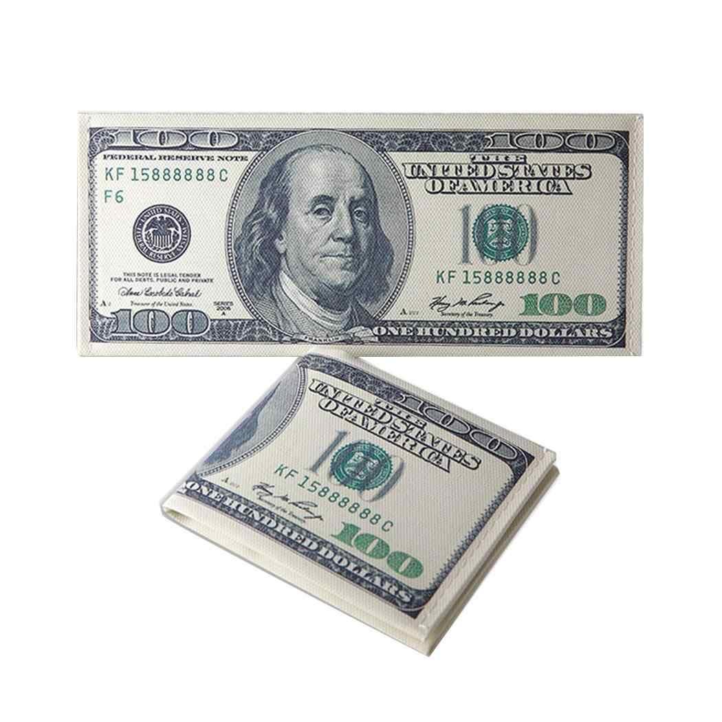 男性カジュアルマネー柄コインボタン財布現金バッグカジュアル、屋外、など注コンパートメント財布
