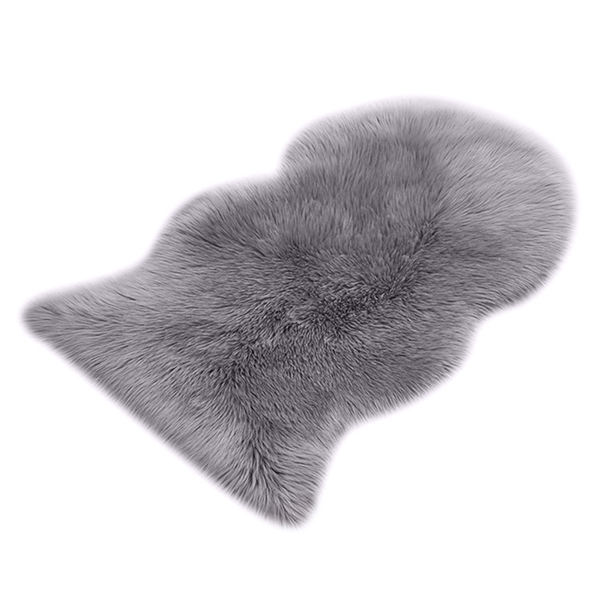 New-Faux Fur Sheepskin Rug <font><b>60</b></font> x 90 cm Faux Fleece Fluffy Area Rugs Anti-Skid Carpet for Living Room Bedroom Sofa Nursery Rugs image