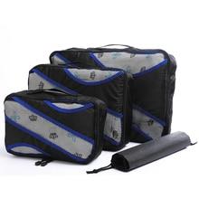 Travel Bags Hand Luggage Clothing Sorting Bolsa De Viaje 3 Pcs/set Nylon Packing Cubes Set Travel Bag Organizer Large Capacity все цены