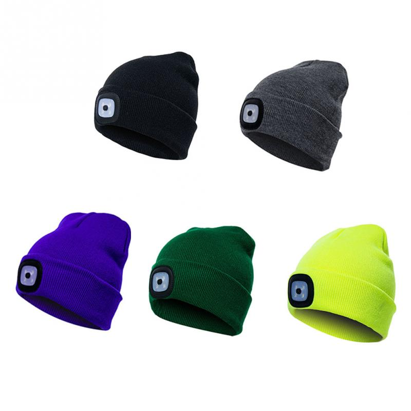 f6c5d61d465 Unisex Autumn Winter LED Lighted Cap Warm Beanies Outdoor Fishing Running  Beanie Hat Flash headlight Camping Climbing Caps  1029-in Headlamps from  Lights ...