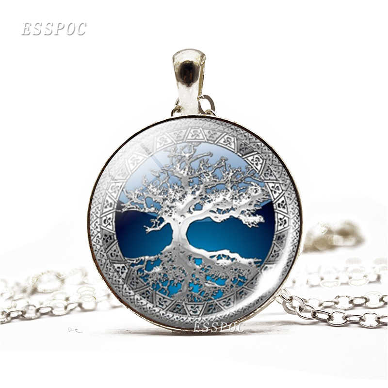 Drzewo życia prosty styl naszyjnik szklaną kopułą Cabochon biżuteria kobiety DIY obrazy życie sztuka przedstawiająca drzewo ręcznie wykonany wisiorek kobiety prezenty