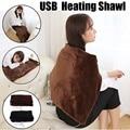 45x80 см автомобильное домашнее электрическое нагревающее одеяло подушка для шеи через плечо Мобильная нагревательная шаль USB Мягкая 5V 4W зимн...