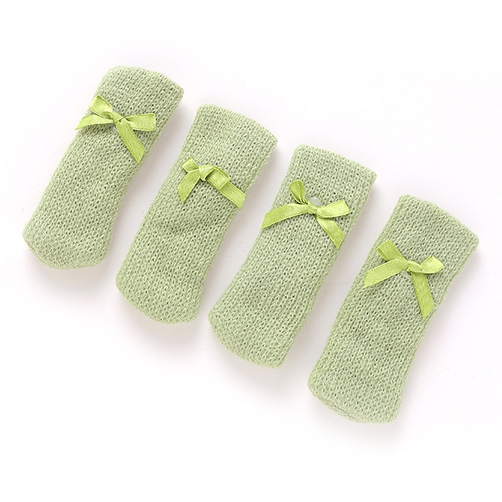 4pcs Knitting Chair Leg Socks Floor Protector Furniture Legs Non-slip Pad Table Legs Prevent Dog Cat Scratching Legs Cover