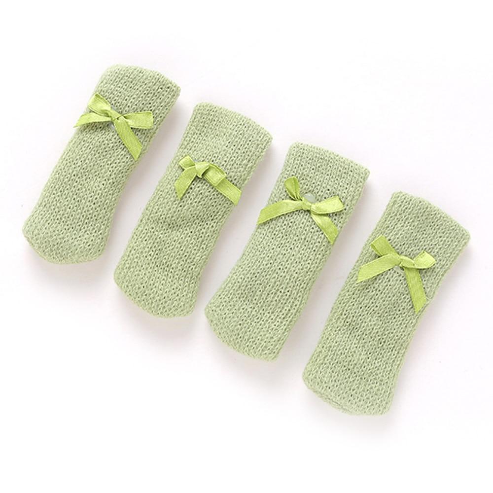 4pcs Knitting Chair Leg Socks Floor Protector Furniture Legs Non-slip Pad Table Legs Prevent Dog Cat Scratching Legs Cover