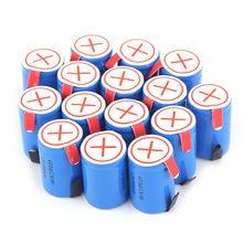 20 шт. 1,2 в Ni-MH 4/5 SubC Sub C 2800 мАч батарея синий ячейки с Tab перезаряжаемые батарея