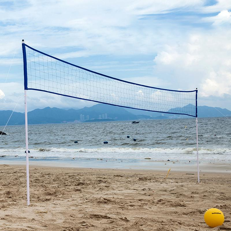 Na zewnątrz przenośne siatka do siatkówki stojak składany regulowany siatka do siatkówki na plaży trawa Park siatka do badmintona stojak na w Piłki do siatkówki od Sport i rozrywka na AliExpress - 11.11_Double 11Singles' Day 1