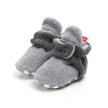 Infant Newborn Baby Girls Cotton Shoes Cozy Fleece Booties N
