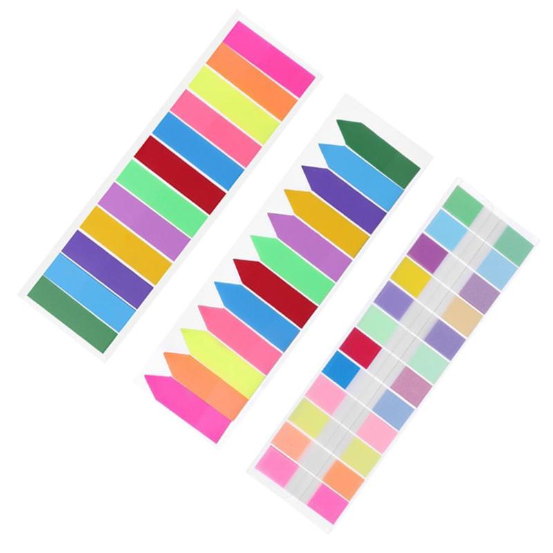 100/240pcs 6/12 Colors Sticky Notes Index Memo Pad N Times  Label Paper Bookmark Sticker Sign Message School Stationary Supplies