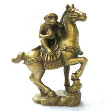Small Collectibles Brass Monkey&Horse Statues(China)