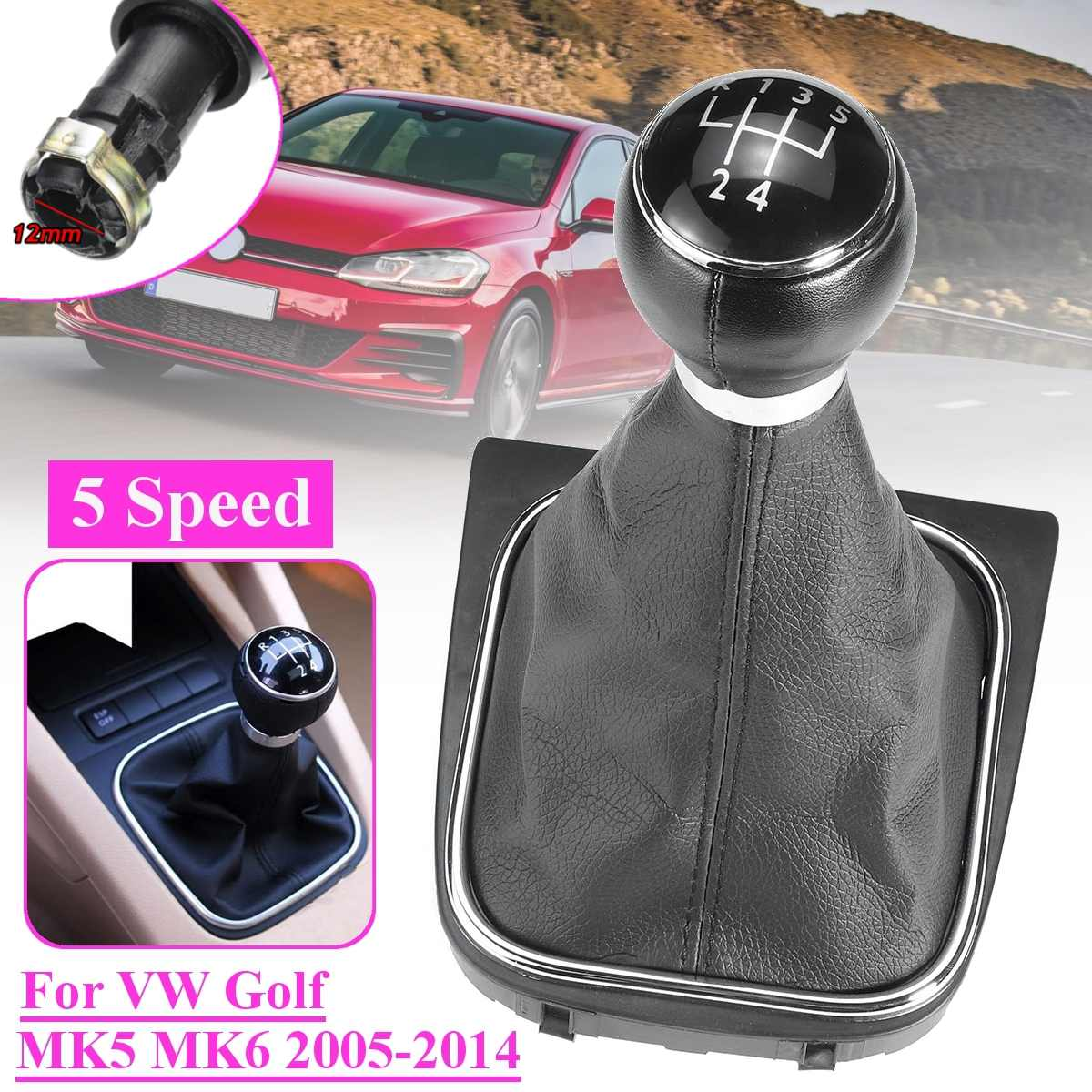 5/6 скоростная кожаная ручка переключения рулевого механизма автомобиля ручки пылезащитный чехол для VW Golf MK5 MK6 Golf 5 6 Rabbit Jetta MK6 2010-2014 Стайлинг