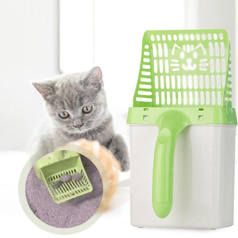 Pet Cat Litter Scooper Cat Litter Sifter Scoop System Kitty Litter Scooper with Extra Waste Bags Litter Cat Products