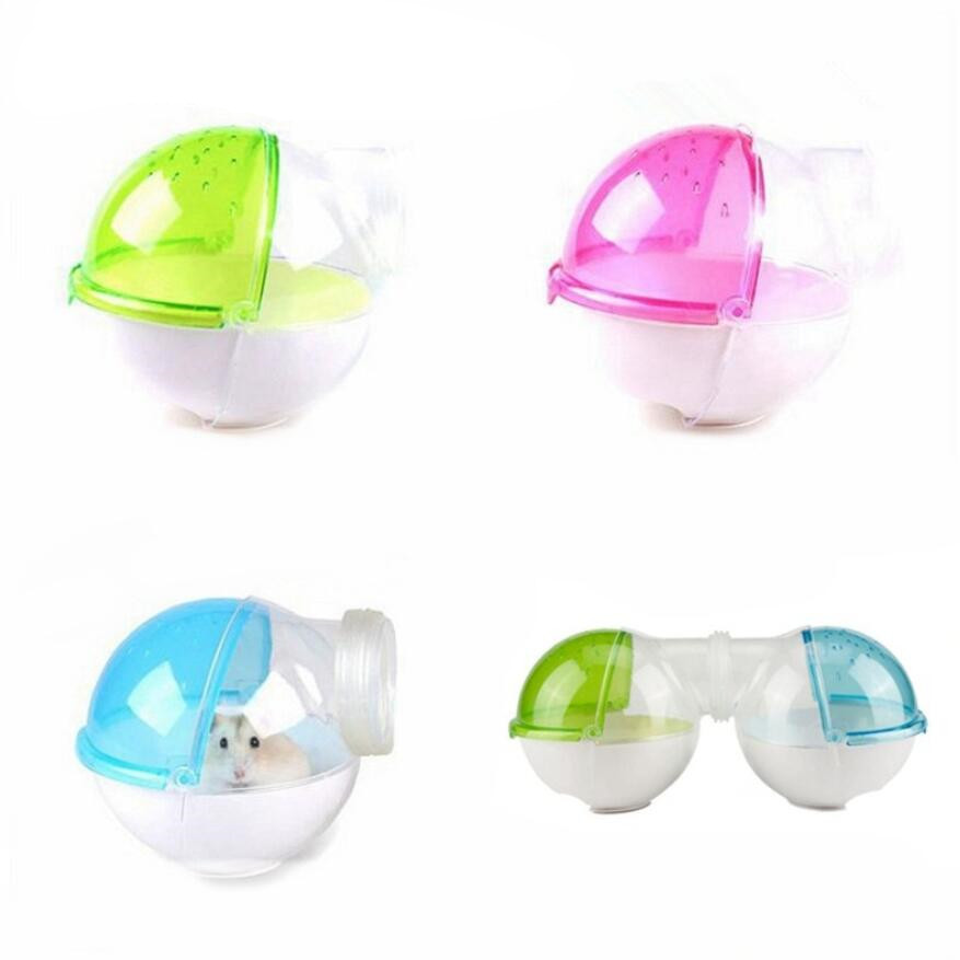1pcs Hamster Guinea Pig Bathroom Ball Shape Small Pet Toilet Bathtub Rat Mouse Activity Room Pet Bath Tub Hamster Supplies