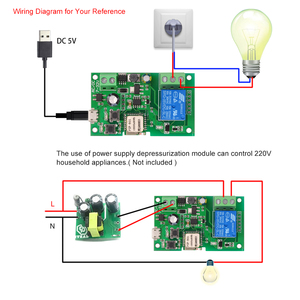 Image 4 - 2PCS 5PCS Wifi Switch eWeLink DC5V 12V 24V 32V Smart Home Automation Modules Phone APP Remote Control Timer Switch Voice Control